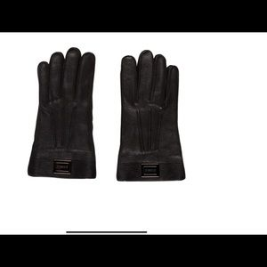 Burberry men's leather gloves